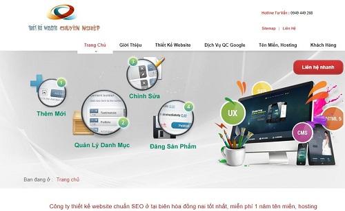 Top 5 công ty thiết kế web uy tín tại Đồng Nai