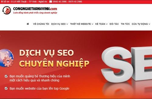 Top 5 công ty thiết kế Website giá rẻ tại Vinh