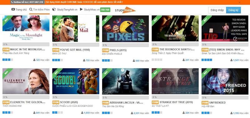Top 8 Website xem phim luyện tiếng Anh hiệu quả nhất hiện nay