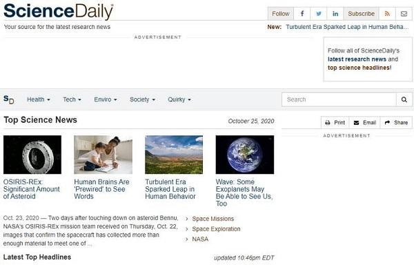 Top các trang web khoa học chất lượng nhất hiện nay