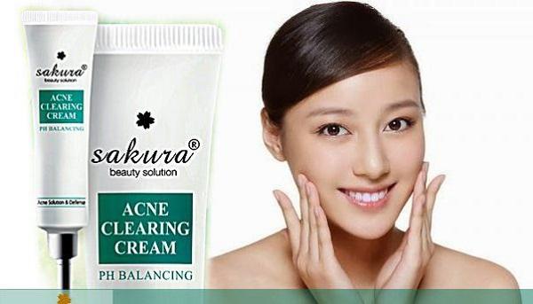 [ Review] kem trị mụn sakura có tốt không? Giá bao nhiêu