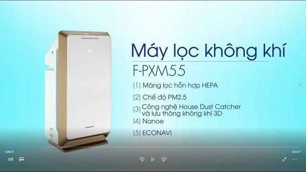 [ Review] Máy lọc không khí Panasonic F-PXM55A chi tiết