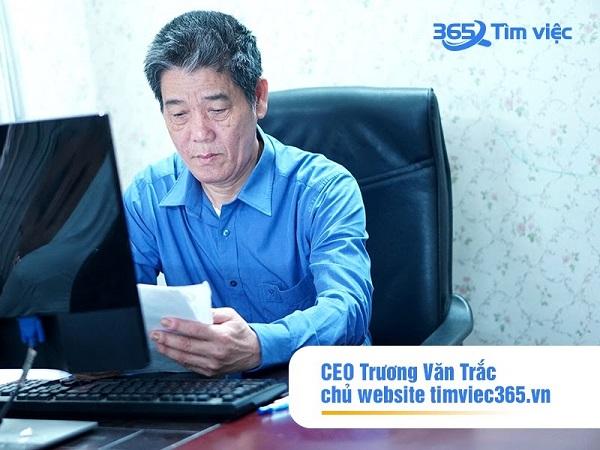 """CEO Trương Văn Trắc: """"Việc làm báo chí đang rất rộng mở với các ứng viên ngành truyền thông tại website timviec365.vn"""""""