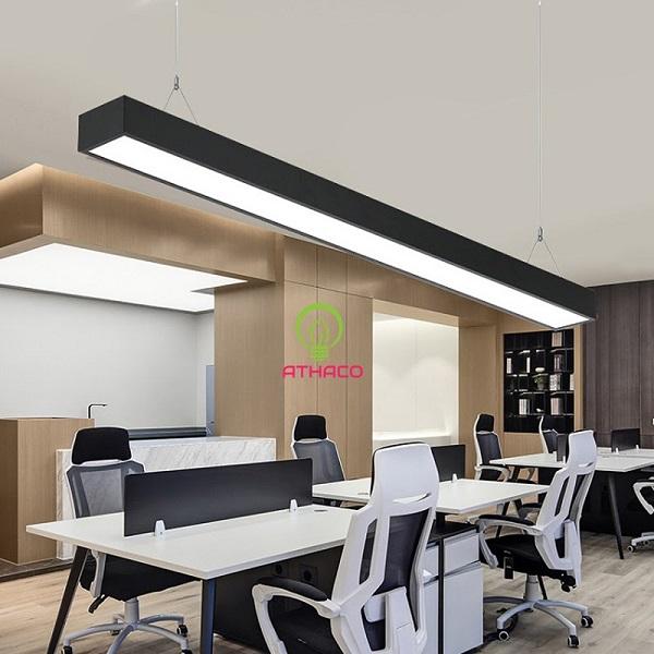 Đèn thả trần và đèn led panel 600×600 cho không gian văn phòng hiện đại
