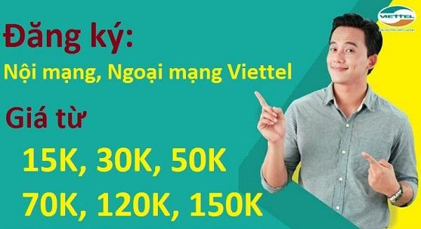 Đăng ký gọi nội mạng Viettel 4G Viettel